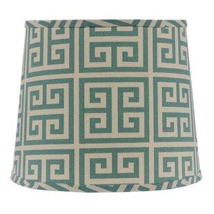 Greek Key 14 Linen Drum Lamp Shade