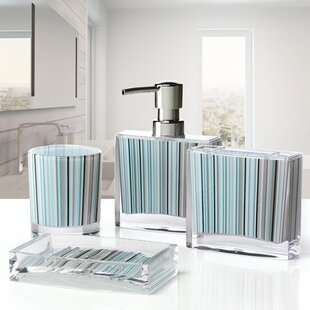 Immanuel Iced 4-Piece Bathroom Accessory Set