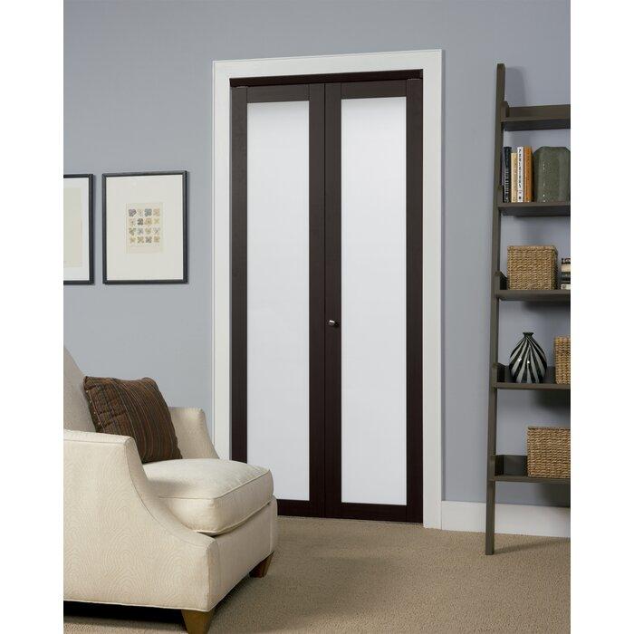 Erias Home Designs Baldarassario Wood 2 Panel Bi Fold Interior Door