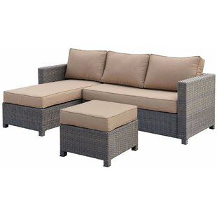 Hawk Patio Sectional with Cushions by Bayou Breeze