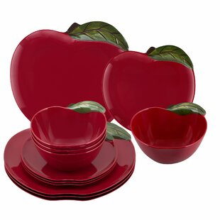 Behr Apple 12 Piece Melamine Dinnerware Set, Service for 4
