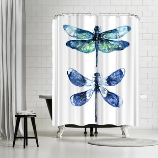 East Urban Home Sam Nagel Dragonfly Wings Shower Curtain