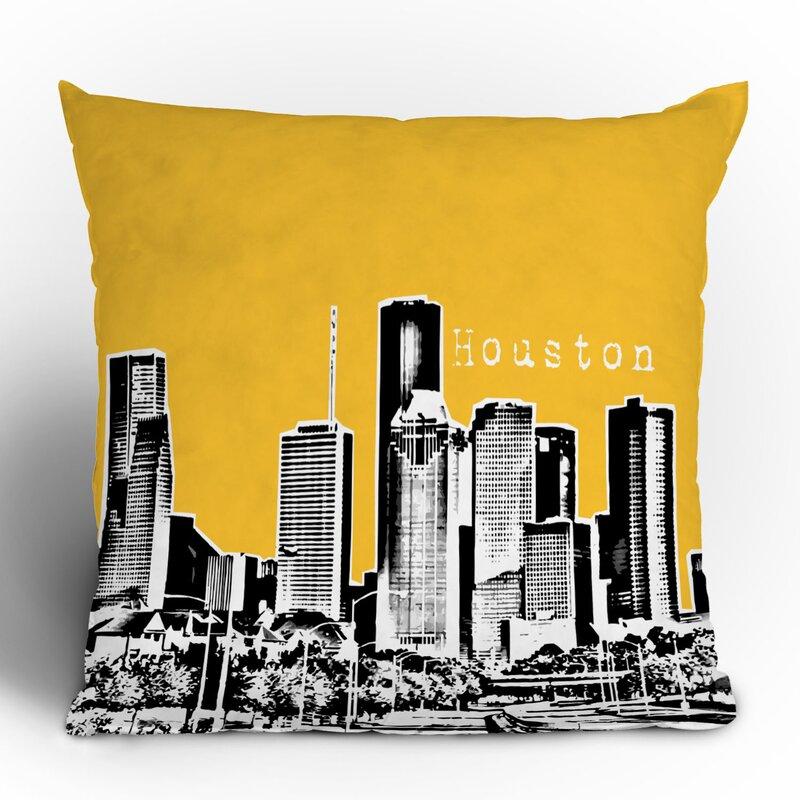 Bird Ave Houston Throw Pillow