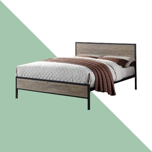 Denelle Metal And Wood Bed Frame By Hashtag Home