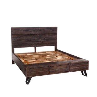 Alley Acacia Wood Panel Bed