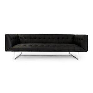 Edward Mid Century Modern Leather Chesterfield Sofa by Kardiel