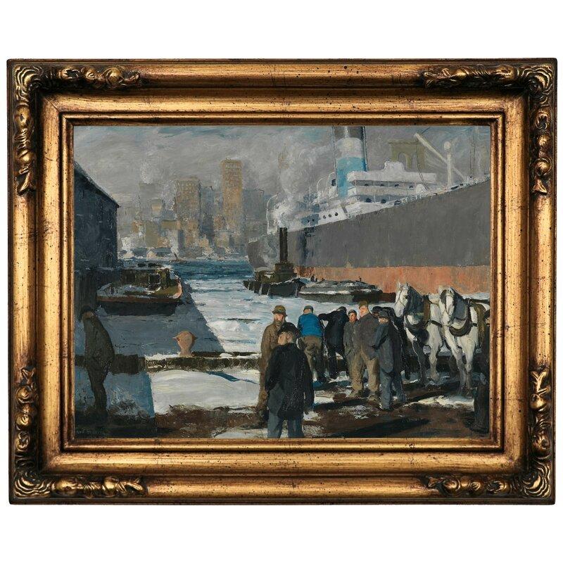 Astoria Grand Men Of The Docks 1912 Framed Oil Painting Print On Canvas Wayfair