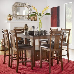 Dahlonega 7 Piece Counter Height Extendable Dining Set Charlton Home
