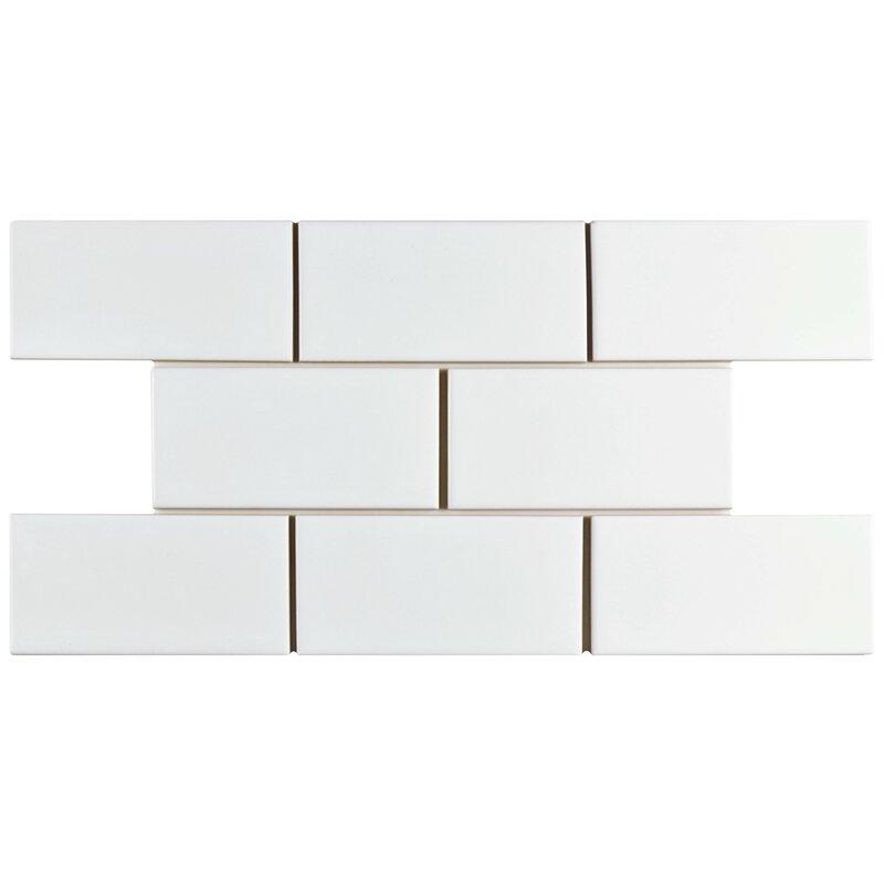 Prospect 3 X 6 Ceramic Subway Tile In Glazed White