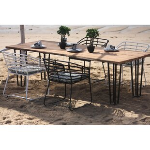 Pemberton Aluminum/Teak Dining Table