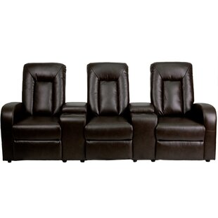 Eclipse Series Home Theater Recliner (Row of 3) by Flash Furniture
