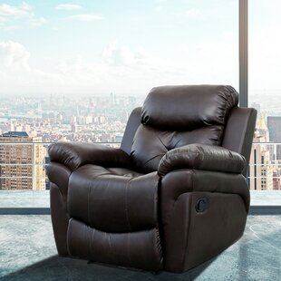 Leather Reclining Full Body Massage Chair by Red Barrel Studio