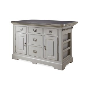 Dogwood Kitchen Island with Stainless Steel Counter Top by Paula Deen Home