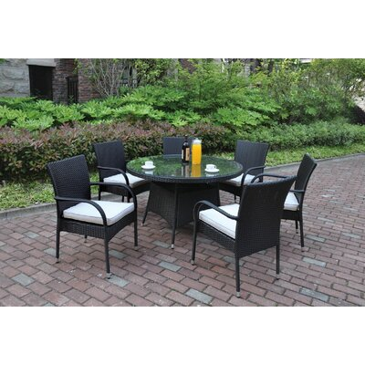 7 Piece Dining Set with Cushions JB Patio