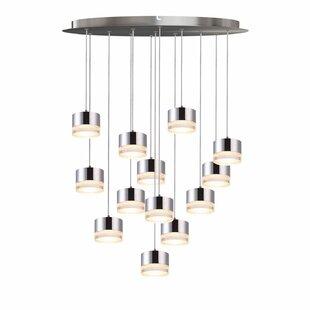 Barnsdall 13-Light LED Cluster Pendant by Orren Ellis