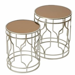 Anwen Decorative Round 2 Piece Nesting Tables Mercer41