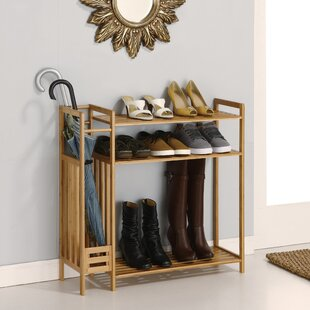 Utility Entryway 9 Pair Shoe Rack Rebrilliant