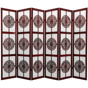 72 X 84 Rosewood Long Life Shoji 6 Panel Room Divider By Oriental