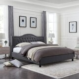 Wynsum Queen Tufted Upholstered Platform Bed by Charlton Home®