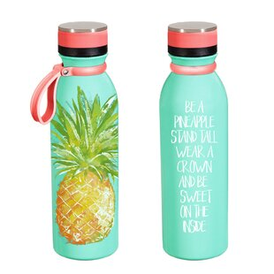 Roesler Pineapple 20 oz. Stainless Steel Water Bottle