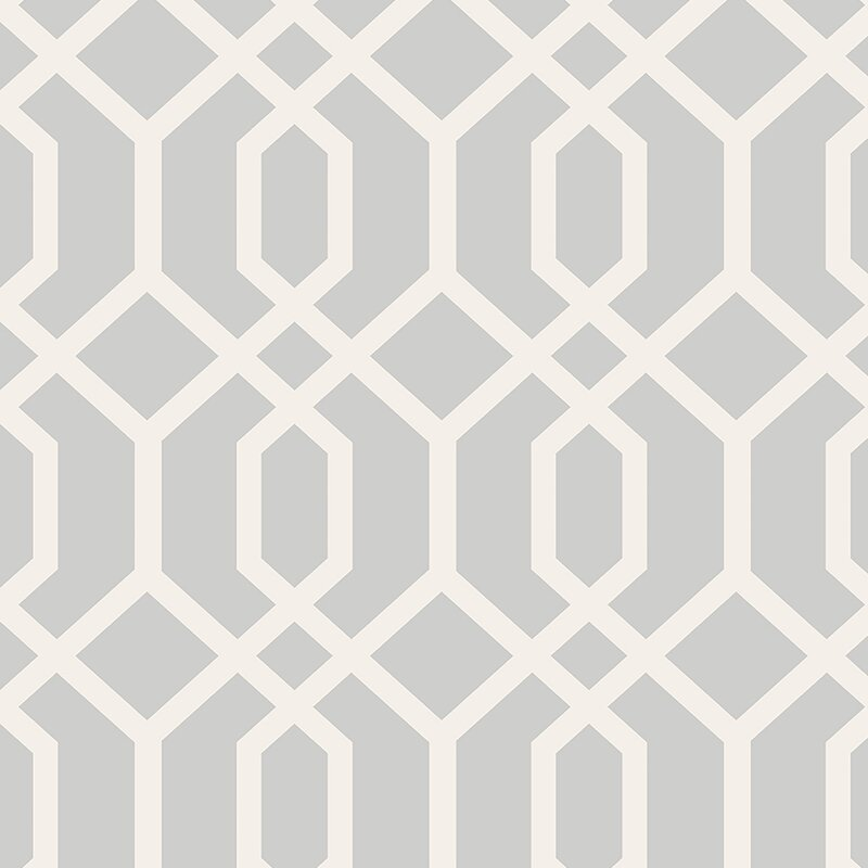 "Essentials 33' x 20.5"" Trellis Montauk Wallpaper Roll"