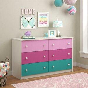 Nola 6 Drawer Double Dresser