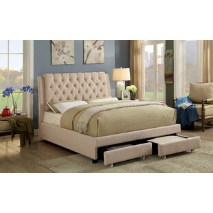 Alcott Hill Kapono Upholstered Panel Bed with Mattress