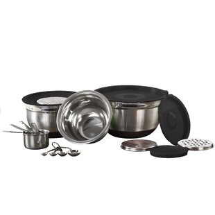 17 Piece Stainless Steel Mixing Bowl Set
