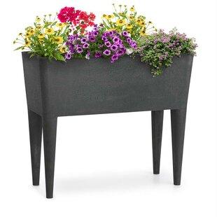 Mammutgrow 76cm X 37cm Plastic, Stone And Wood Raised Flower Bed By Blumfeldt