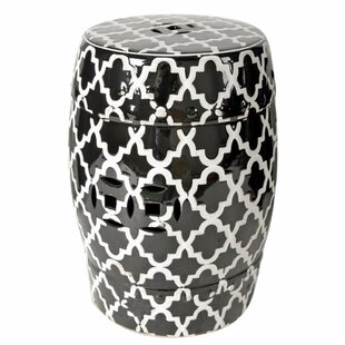 Elston Finley Designed Patterned Patio Bar Stool