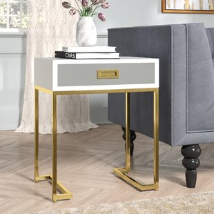 Fanetta End Table with Storage