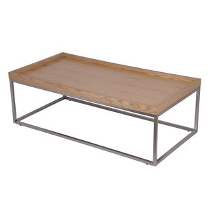 Schroder Coffee Table with Tray Top by Wrought Studio