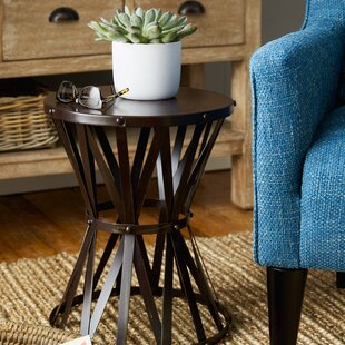 Siefert Rustic Metal Accent Stool