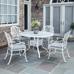 Nori 5 Piece Dining Set with Cushions by One Allium Way