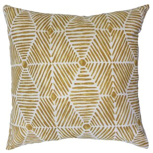 Barksdale Geometric Down Filled 100% Cotton Lumbar Pillow