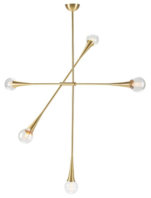 Presnell 5-Light Sputnik Chandelier