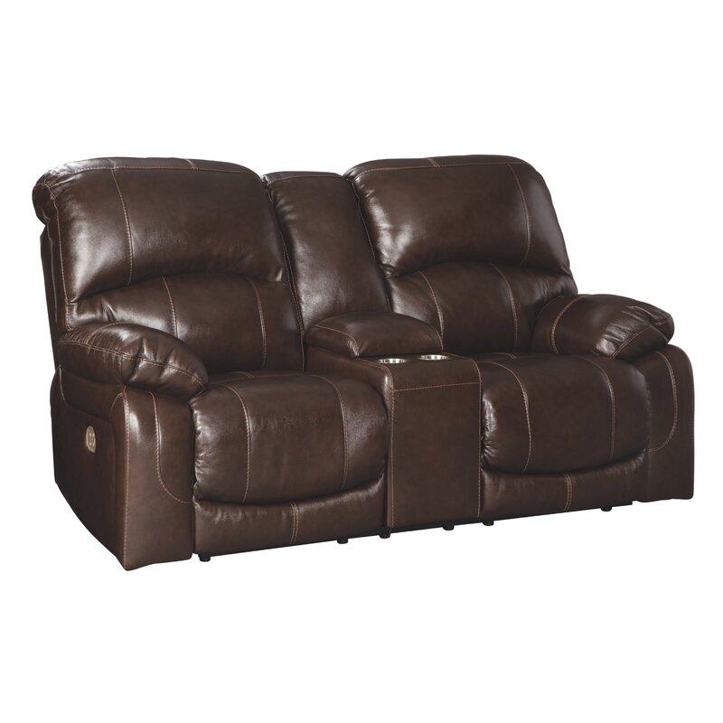 Millwood Pines Dunkelberger 86 Wide Leather Match Pillow Top Arm Reclining Loveseat Wayfair