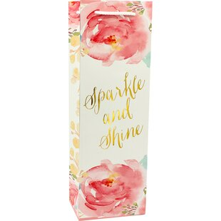 Printed Sparkle and Shine Single Bottle Carrier