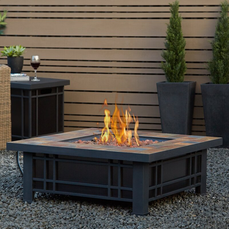 outdoor fireplace tables. Real Flame Morrison Stainless Steel Propane Fire Pit Table Tables
