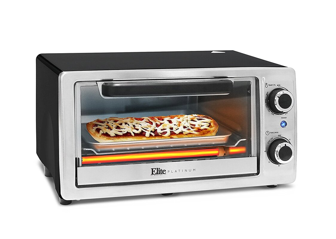 Elite by Maxi-Matic Platinum Stainless Steel Toaster Oven | Wayfair
