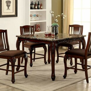 Damiansville Traditional Counter Height Dining Table Fleur De Lis Living