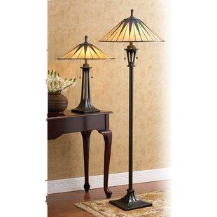 Comparison Finchamp Tiffany 62 Floor Lamp By Loon Peak