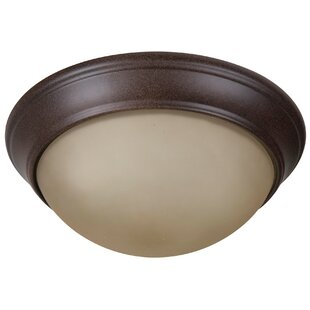 Charlton Home Berwyn 2-Light Bowl Flush Mount