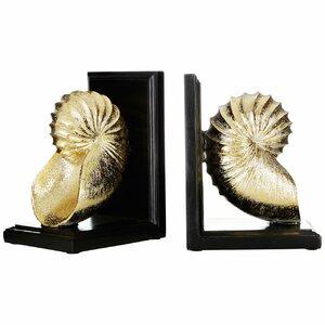 2-tlg. Buchstützen Seashell von Castleton Home