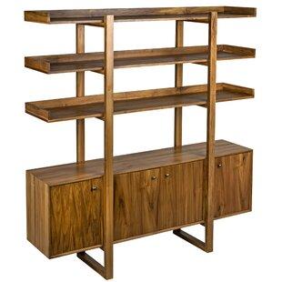 Malistae 81 H x 77 W Solid Wood Standard Bookcase