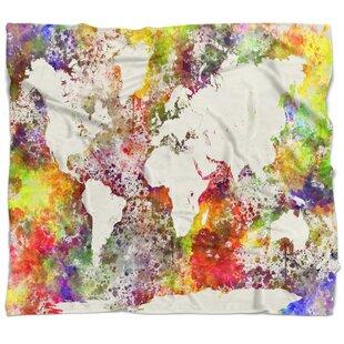 World map blanket wayfair watercolor world map blanket gumiabroncs Choice Image