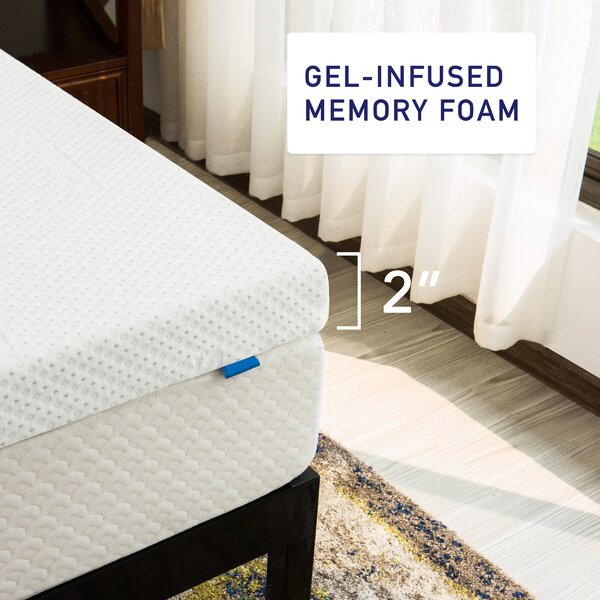 Subrtex 2/'/' 3/'/' 4/'/' Memory Foam Mattress Topper Gel Queen King Twin Full Size