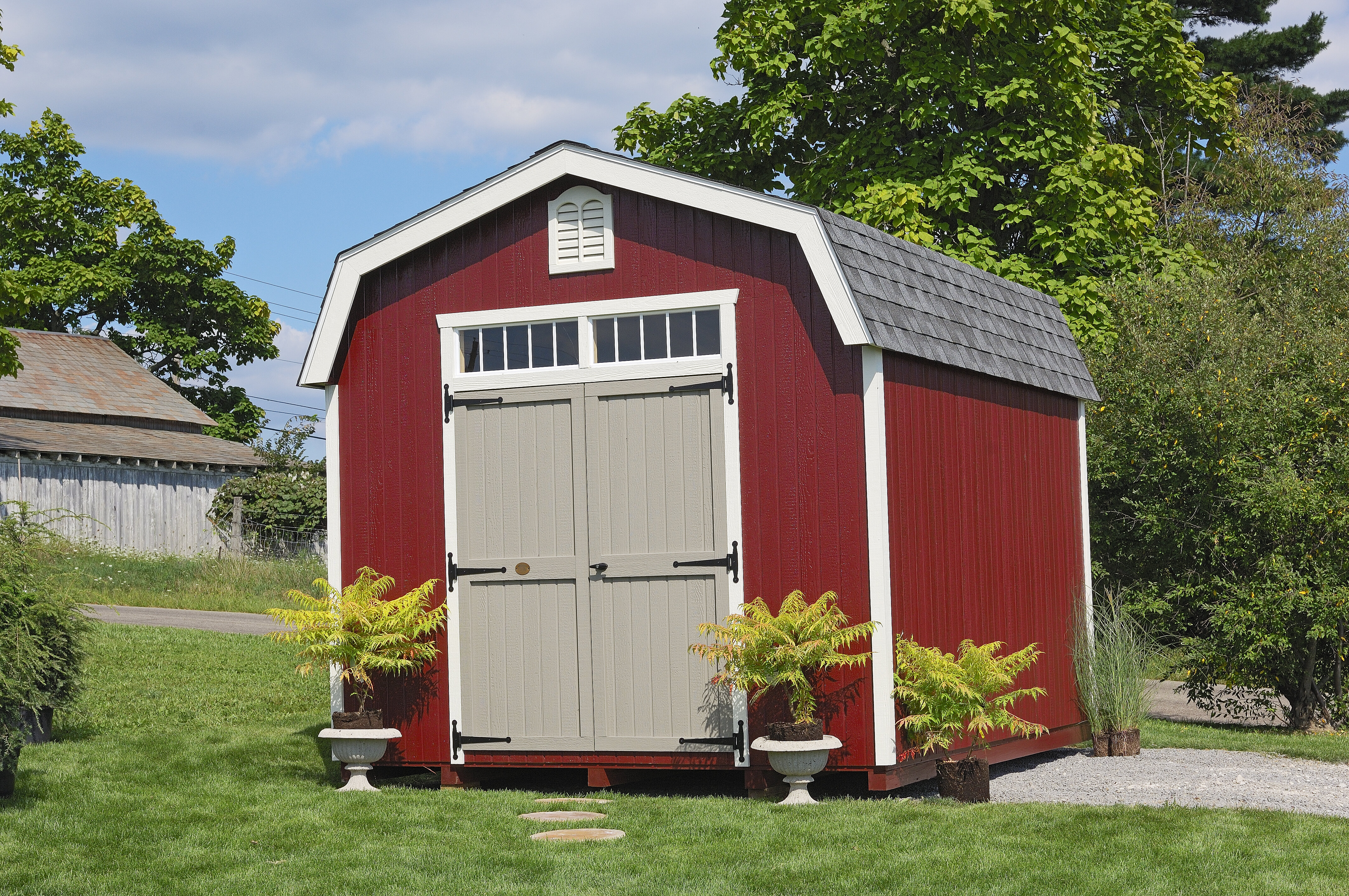 Little cottage company colonial bury wooden storage shed wayfair