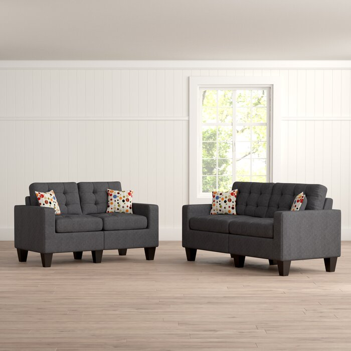 Zipcode Design Amia 2 Piece Living Room Set & Reviews   Wayfair.ca