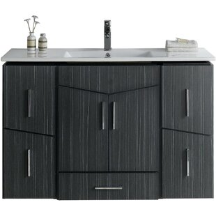 Zen 48 Modern Wall Mount Vanity Base Set by American Imaginations